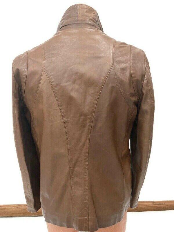 Genuine Vintage 1970s Brown Leather Blazer Jacket… - image 2