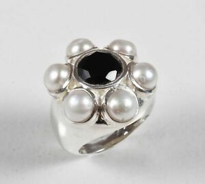 Handmade-925-Solid-Sterling-Silver-Ring-Natural-Multi-Gemstone-US-Size-7-5-R-162