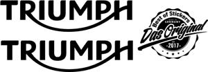 2-x-TRIUMPH-LOGO-molti-colori-dimensioni-12-CM-x-3-cm-prestigio-Decut-decal