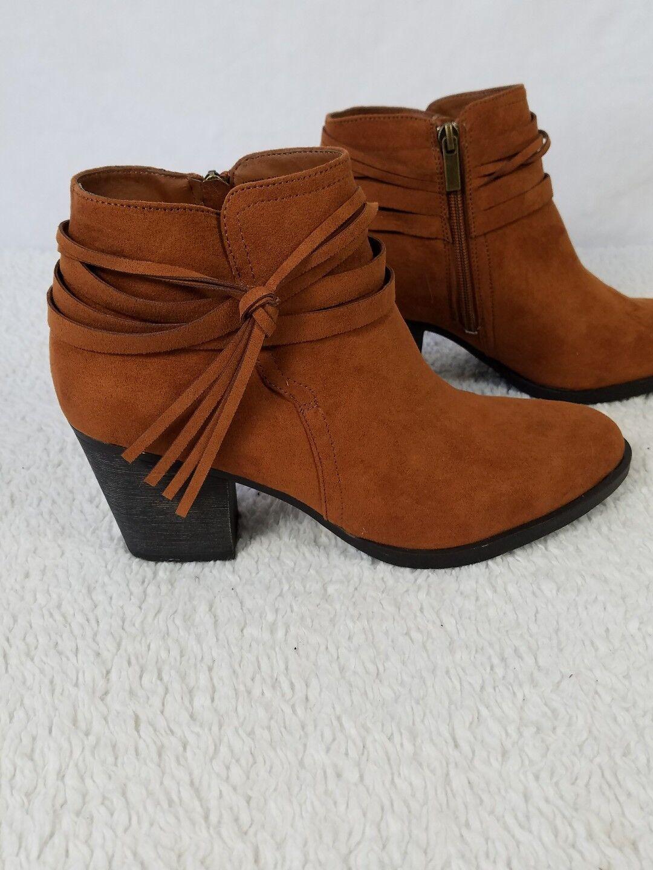 New sz Damens's Stiefel Tassel Bootie Bamboo Avenge sz New 10  tan Braun e6885c