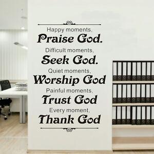Praise God Home Decor Vinyl Art Murals Quotes Stickers Religious