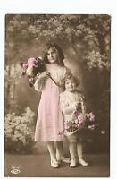 children postcard fashion clothing young girl