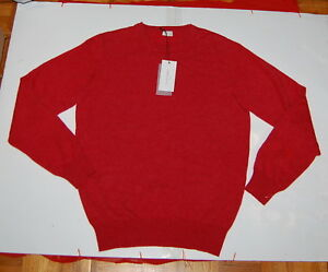 Nwt Luciano Barbera Mens 100 Cashmere Burnt Orange Sweater 50 40