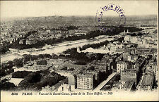 PARIS France CPA ~1910/20 Panorama Blick von Eiffelturm Tour de Eiffel France