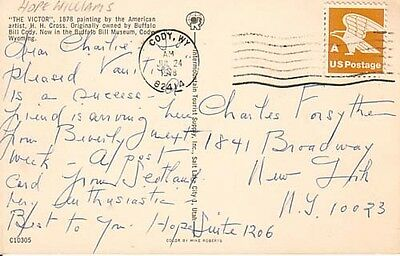 Autographs-original Theater Hope Williams Broadway Actress 1920's-30's D.1990 Signed Postcard To Forsythe Aromatic Flavor