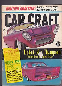 Car Craft Magazine Showtime Usa Model Craft April 1963 Free Us S H