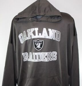 NEW-Mens-NFL-Majestic-Oakland-Raiders-Granite-Heart-amp-Soul-Poly-Pullover-Hoodie