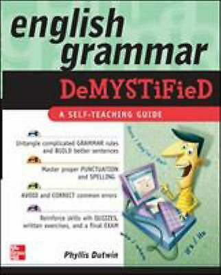 English Grammar : A Self-Teaching Guide Paperback Phyllis, M.A. Dutwin