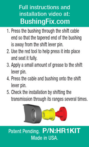 Transmission shift cable bushing for Chevrolet Captiva Sport LIFETIME WARRANTY!