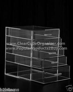 Acrylic-Lucite-Clear-Cube-Makeup-Organizer-The-Kardashians-Display-5-pull-out-dr