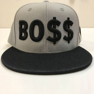 20c2c805ab660 Details about BOSS 3D Flat Peak Snapback Cap Original Customised Funny Gift