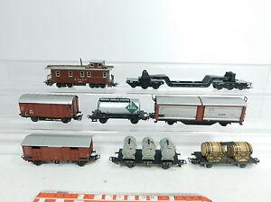 BB166-2-8x-Maerklin-H0-AC-Bastler-Gueterwagen-Caboose-Bordeaux-Aral-VTG-etc