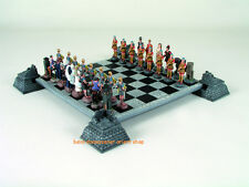 Schlacht um Troja Schachfiguren aus Zinn & Schachbrett 30 cm aus Polyresin