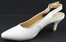 Andrea Conti Schuhe Pumps High Heels Echt Leder Gr.40 Weiß 7028 T