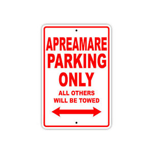 Apreamare Parking Only Boat Ship yacth Marina Lake Dock Aluminum Metal Sign