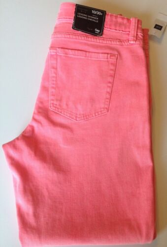 NWT GAP Women's 8 10 16 Skinny Jeans Legging Pink FIT SMALL Free Ship MSRP$59