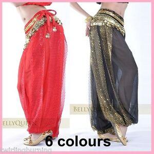 AU-Sz-8-18-Belly-Dance-Harem-Pants-Chiffon-Bollywood-Dancing-Costume-AP06-AB02