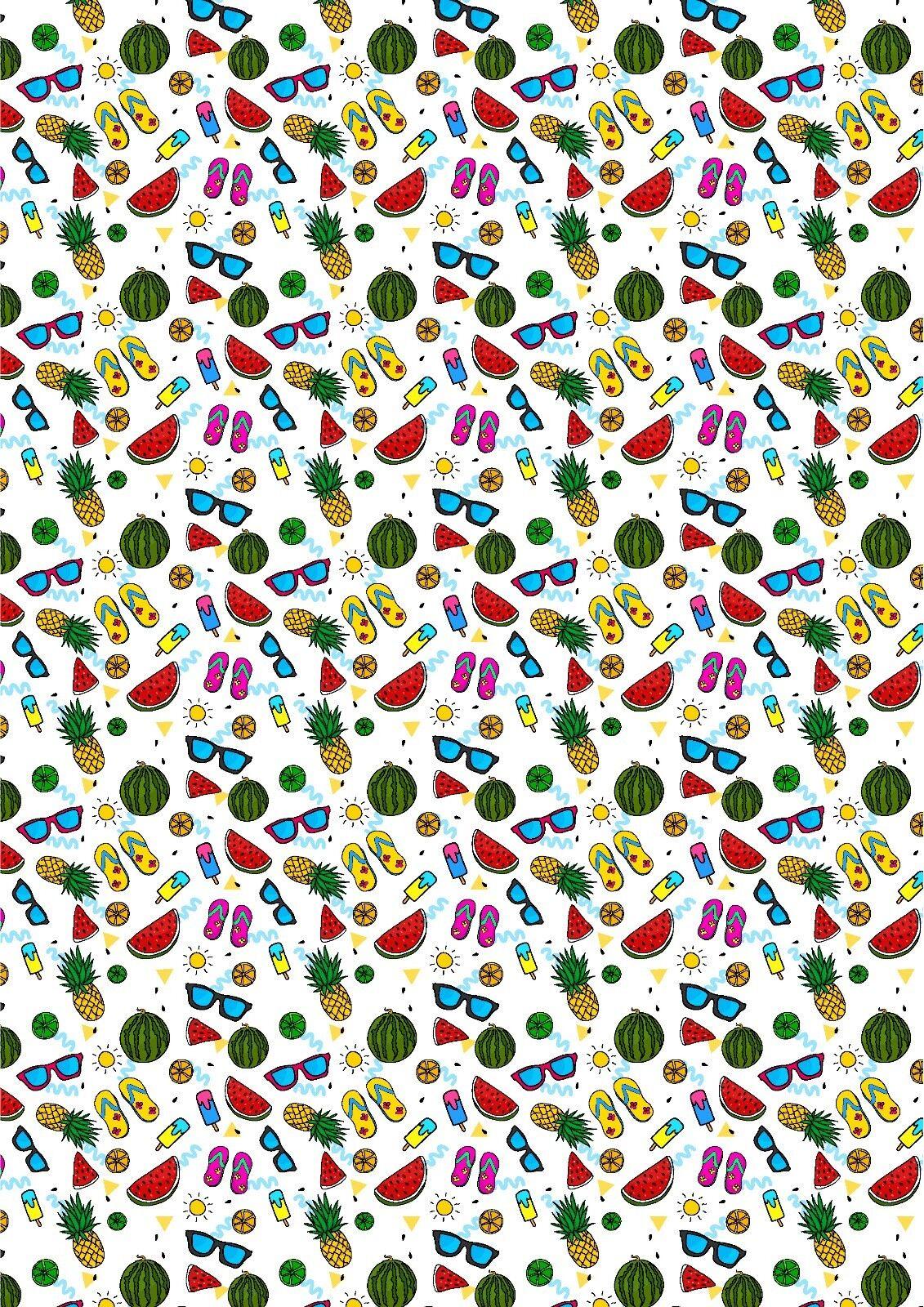 Printed Bow Fabric A4 Canvas Daisy Daisies Flowers FL1 Make glitter bow
