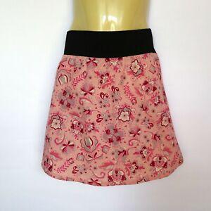 Green woodland print Elastic Waist A line Skirt girls sizes 2 /& 4 retro