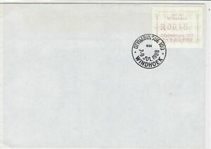 republic of south africa 1988 atm stamps cover ref 19193