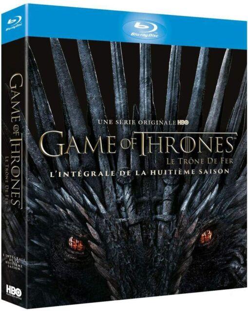 Blu ray Game of Thrones Saison 8 Intégrale  Le Trône de Fer Neuf sous cellophane