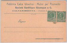 CARTOLINA d'Epoca - CALTANISETTA Citta' : PUBBLICITARIA: Fabbrica Calce