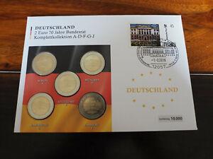 Numisbrief 70 Jahre Bundesrat 2019 mit 2 Euro Münzsatz A-J Berlin - Essen, Deutschland - Numisbrief 70 Jahre Bundesrat 2019 mit 2 Euro Münzsatz A-J Berlin - Essen, Deutschland