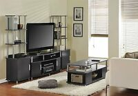 4 Piece Espresso Coffee Table Set Living Room Home Accent Furniture Collection