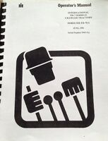 Dresser Td7e Operator Maintenance Manual International Ih Crawler Dozer >9500 Hi