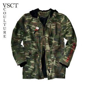 Armee long Übergangsjacke mit Kapuze *Neu Jacke by VSCT *Military camo *Parka