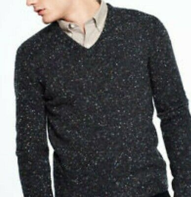 PENDLETON Dark Gray Speckled 100% Pure Virgin Wool V Neck Sweater Men's Size M | eBay