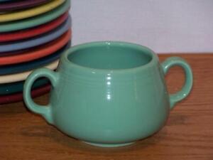 Fiesta-SEA-MIST-Small-Sugar-Bowl-Figure-8-Sugar-Body-Discontinued-Color