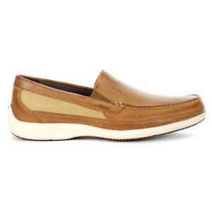 Rockport Men's Aiden Venetian Caramel Leather Loafer CG9217 NEW!