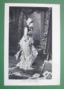 YOUNG-LADY-Artist-in-Studio-by-C-Kiesel-VICTORIAN-Era-Engraving-Print