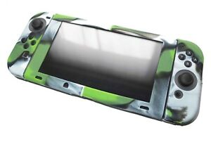 Nintendo-Switch-amp-Joy-Con-Controller-Green-Camo-Silicone-Protective-Cover-Set-UK