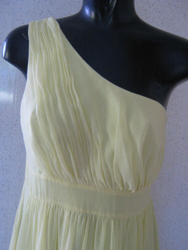 Myleene Klass One Shoulder Maxi Dress Yellow UK Size 12  NEW TAGS