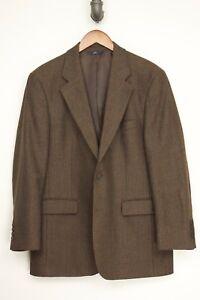 Brooks-Brothers-Mens-Sport-Coat-40R-Brown-Check-Wool-Tweed-Jacket-346