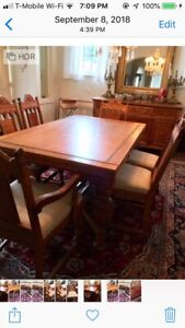 Great Antique Oak Dining Room Table 6