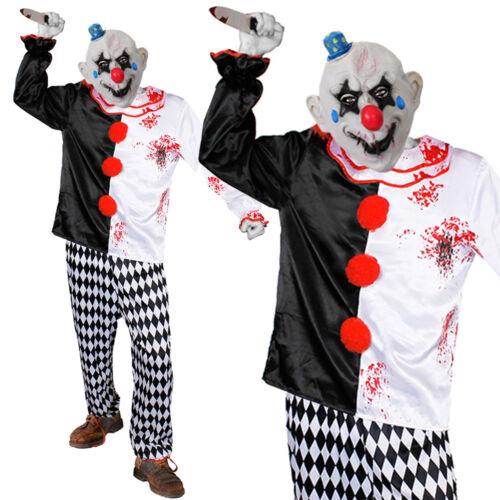 ADULTS EVIL KILLER CLOWN COSTUME HORROR CIRCUS SLASHER HALLOWEEN FANCY DRESS