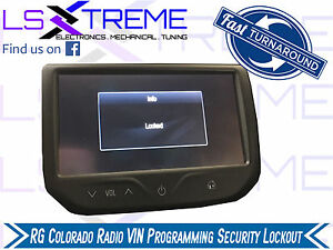 Details about RG Colorado Radio VIN Programming Security Lockout Active!  Locked Mylink