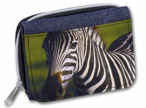 AZ-2JW A Pretty Zebra Girls//Ladies Denim Purse Wallet Christmas Gift Idea