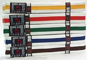 Brand New Finest Quality BUDO NORD STRIPED MON BELTS Karate Judo Martial Arts