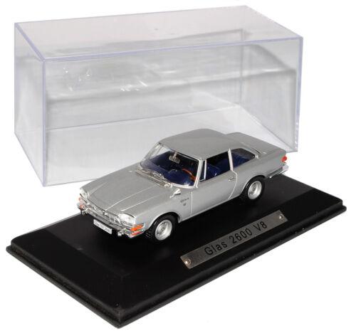 Glas 2600 V8 Coupe Silber Grau Norev 1//43 Atlas Sonderangebot Modell Auto mit od