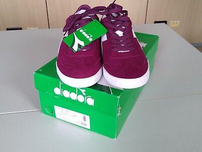 Scarpe Sneaker Uomo DIADORA n.46 Modello B.ORIGINAL VLZ colore Prugna e Bianco | eBay