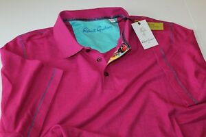 Robert-Graham-Polo-Shirt-Messenger-RR167018CF-Magenta-Classic-Fit-Extra-Large-XL