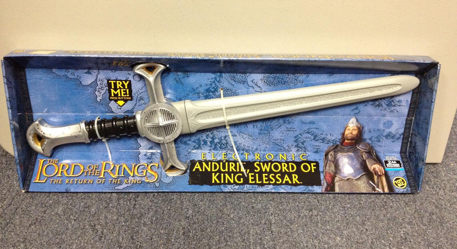 2003 ToyBiz le seigneur des anneaux rougeK Electronic Anduril, épée du roi Elfstone