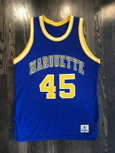 reputable site 96724 3967e Details about Vintage MacGregor Sand Knit MARQUETTE GOLDEN EAGLES  Basketball Jersey 44 Large L