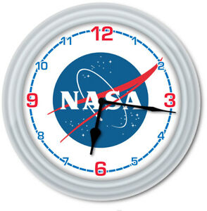 GIFT NASA Space Wall Clock Science Teacher Classroom Office Kids Bedroom