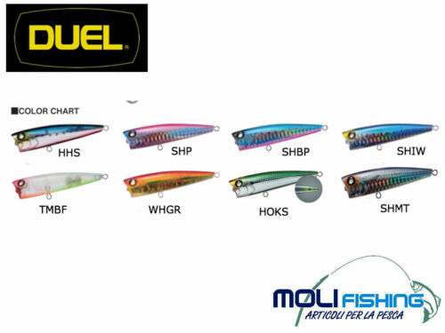 Bait Spinning Popper Duel Silver Pop 75 mm Colour Choice-NEW