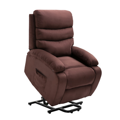 Homegear 2 Remote Microfiber Power Lift Electric Recliner Chair w Massage, Heat | eBay